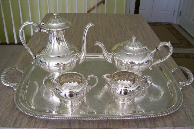 Hollowware Silverplate Birks Primrose Plate Tea Amp Coffee Service With Tray